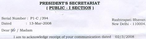 5th President letter