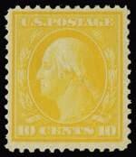 10c Washington Yellow on bluish paper