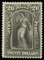 $20.00 Slate NEWSPAPER STAMPS