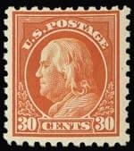 30c FRANKLIN Orange red