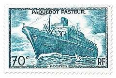 FRANCE – 1941, SS Pasteur Stamp – worth US.$.30,000