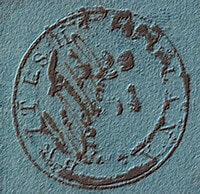 BRITISH GUINA –  Cotton Reel 12c. Blue – worth £.65,000.00