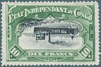 BELGIUM – 1894, 10f Belgian Congo centre invert – worth US.$.141,529