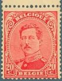 BELGIUM – 1922, King Albert I error of color – worth US.$.19,545