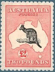 Australia - 1912 First Kangaroo and Map stamp