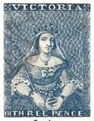 Victoria 3d blue stamp