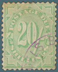 20 shilling postage due stamp