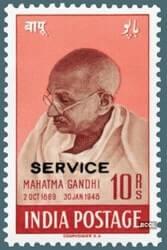 10 Rupees Gandhi stamp