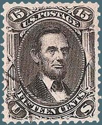 15c Abraham Lincoln stamp