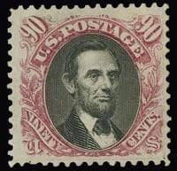 90c 1869 Lincoln PICTORIALS
