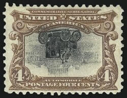 4c Pan-American, Center Inverted