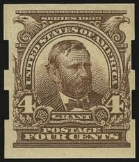4c Brown, Imperforate, Schermack Ty. III