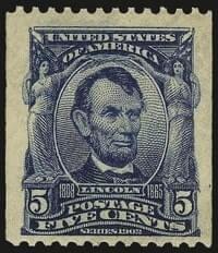 USA - 5c Blue, Coil Mint N.H