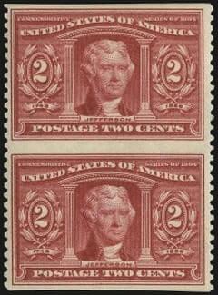 2c Louisiana Purchase, Vertical Pair