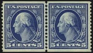 5c Blue, Coil. Mint N.H