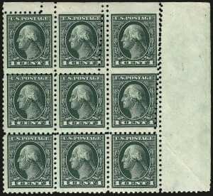 1c Green, Imperforate