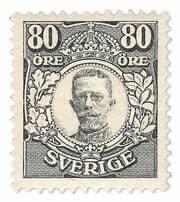 SWEDEN - 1918, King Gustav V