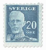 SWEDEN - 1920, Blue Stamp