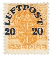 SWEDEN - 1920, Orange Stamp