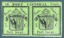 1843, Double Geneva stamp