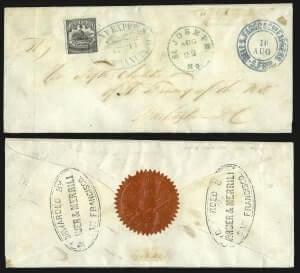 Wells, Fargo & Co. Pony Express, $4.00 Black