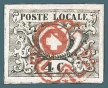 1849, Vaud 4 stamp