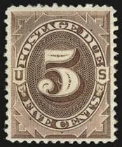 5c Deep Brown, Special Printing