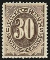 30c Deep Brown, Special Printing