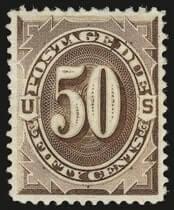 50c Deep Brown, Special Printing