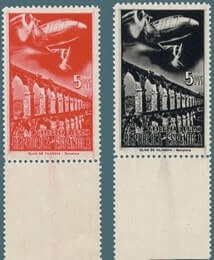 SPAIN – 1939, Planes and landscapes imperf stamp – worth $17,250