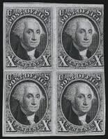1847, 10c Block of four