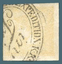 AUSTRIA – 1851, 6kr Yellow newspaper stamp – worth $6,250