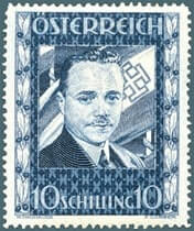 AUSTRIA – 1936, 10sh Dollfuss stamp – worth $3,937