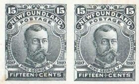 CANADA, Newfoundland - 1910, Guy Tercentenary lithographed