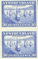 CANADA, Newfoundland - 1932-37, Pictorials imperf, 1¢ to 8¢ complete