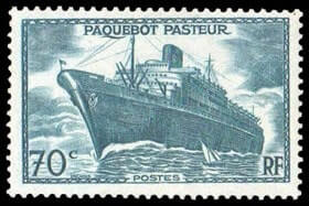 "FRANCE – 1941, 1fr+1fr on 70c Paquebot ""Pasteur"", surcharge omitted – SOLD for $12,500"