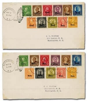 USA - 1929, Kans.-Nebr., 1¢ to 10¢ complete