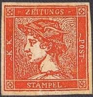 AUSTRIA – 1856, Red Mercury – worth US.$.40,000
