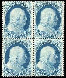USA - 1861, 1¢ blue, type I