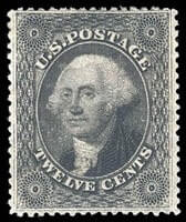 USA - 1859, 12¢ black, plate III
