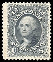 USA - 1861, 12¢ black