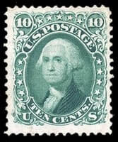 USA - 1861-66 (1875 Re-issue), 10¢ green