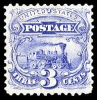 USA - 1869 (1875 Re-issue), 3¢ blue