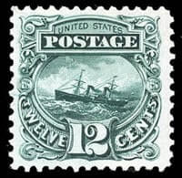 USA - 1869 (1875 Re-issue), 12¢ green
