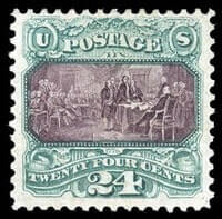 USA - 1869 (1875 Re-issue), 24¢ green & violet