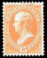 USA – 1870, 15¢ orange, H. grill – Estimate $7,000