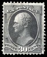 USA – 1870, 30¢ black, H. grill – Estimate $1,250