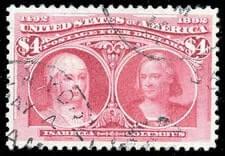 USA - 1893, Columbian, $4 crimson lake