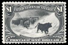 USA - 1898, Trans-Miss., $1 black