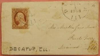 USA - 1858, DECATUR IL
